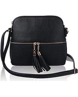 LeahWard Women/'s Soft Cross Body Bags Front Zip Design Shoulder Bag Handbags