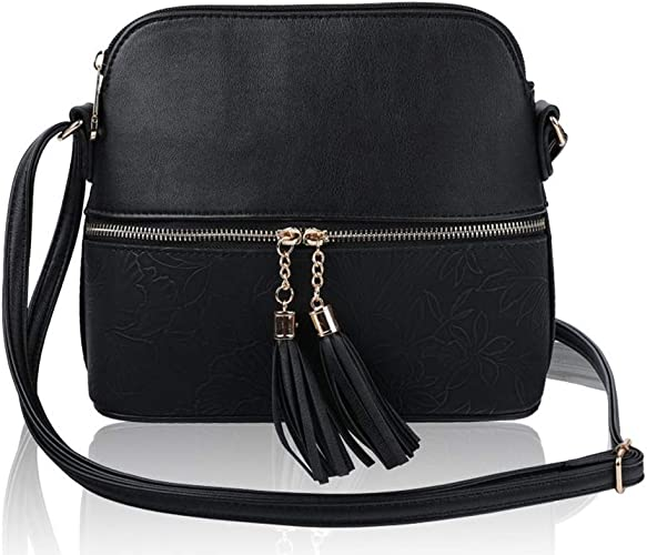 LeahWard Women/'s Small Cross Body Bag Quality Faux Leather Shoulder Bags Handbag