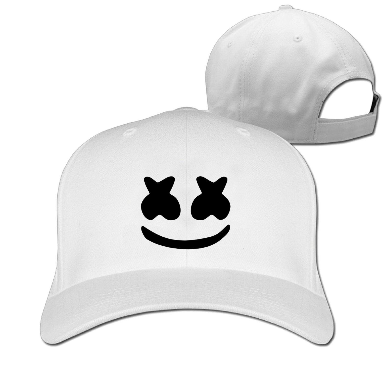 Amazon.com   Adult Marshmello Face Baseball Hat Fishing Visor Cap (6 colours)    Sports   Outdoors 6c2de02c5ea5