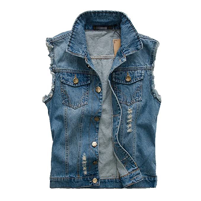 giacca smanicata jeans