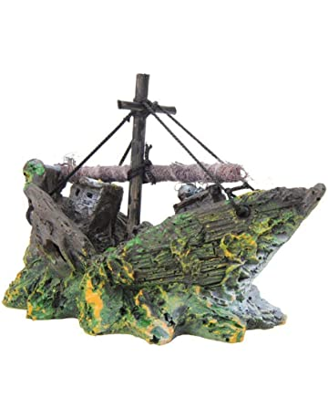 Depory - Decoración de Barco Pirata para Acuario, paisajismo, pecera de Cristal, decoración