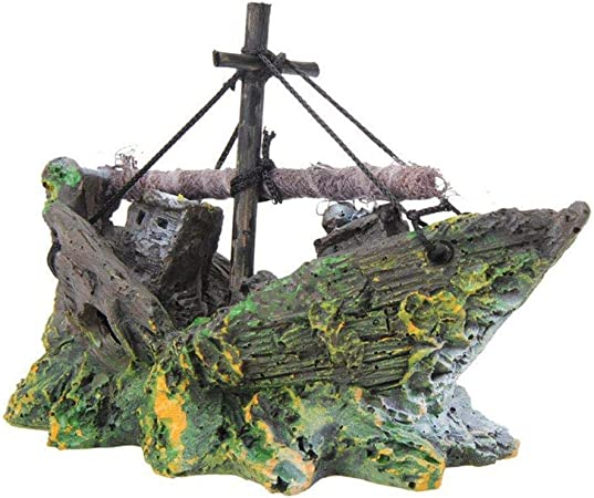 Depory - Decoración de Barco Pirata para Acuario, paisajismo ...