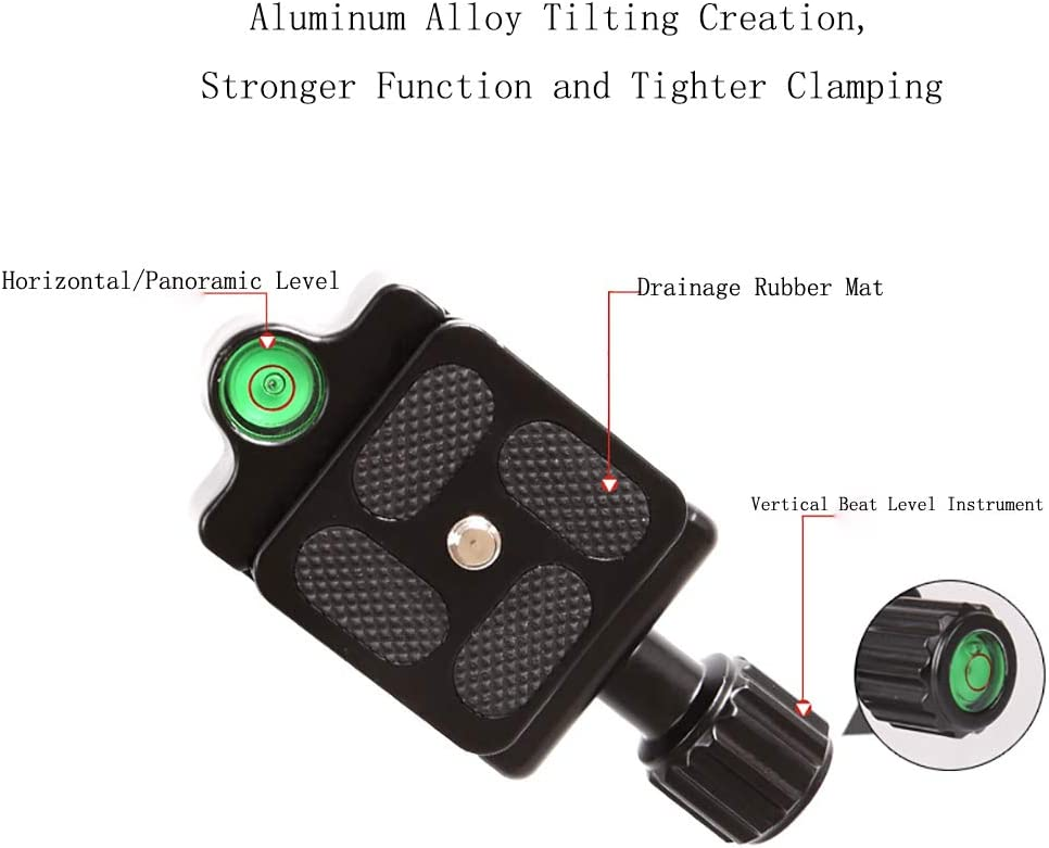 FGKING Lightweight Alluminum Alloy Camera Tripod with 360 Degree Ball Head 1//4 Quick Release Plate for Canon Nikon Sony and Camcorders