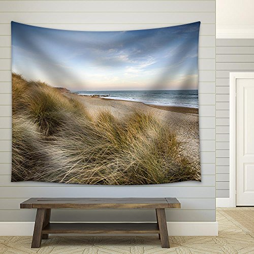 the Beach and Sand Dunes at Hengistbury Head near Bournemouth in Dorset Fabric Wall