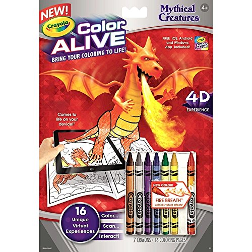 crayola color alive mythical creatures 2pc - Crayola Color Alive Special Pages