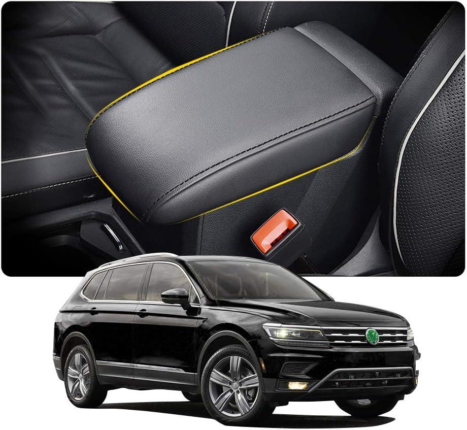 YEE PIN V W Tiguan 2 MK2 para Tarraco 2019// Tiguan MK2 Apoyabrazos de Consola Central Funda de Protecci/ón de Superficie Interior Accesorios SEAT Tarraco Reposabrazos Caja Cuero Cubierta