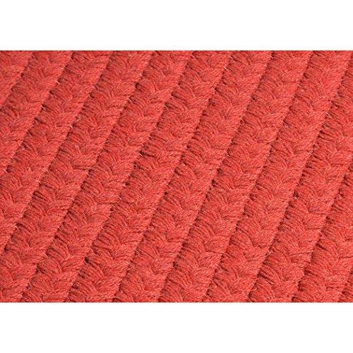 Garnet Braided Rug - Colonial Mills Sunbrella Solid Indoor/Outdoor Performance Braided Rug USA MADE - 5' x 7' Garnet