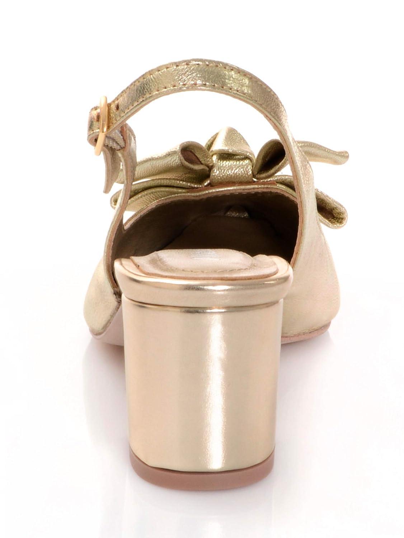 Alba der Moda Damen Slingpumps mit schmückender Schleife auf der Alba Schuhspitze b8b0de