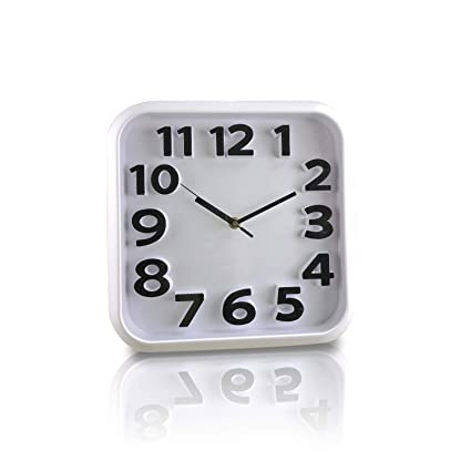 Amazon Com Large Number Wall Clock 3d Silent Non Ticking