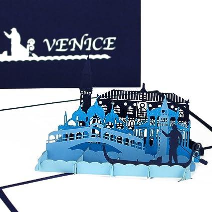 Carte Pop Up Venise Panorama Gondel Fahrt 3d Carte De Vœux De Souvenir Carte D Anniversaire De Voyage De Bons D Stadter Eise Miel Mariage Voyage Fiancailles Amazon Fr Fournitures De Bureau