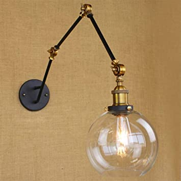 Amazon.com: DLPHWBD Wall Light Globe Shade with Adjustable ...