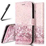 Huawei P10 Lite Stand Case,Huawei P10 Lite Wallet Case,Huawei P10 Lite Flip Case,SKYMARS Huawei P10 Lite Cover Marble Creative Design PU Leather Flip Kickstand Cards Slot Wallet Magnet Stand Case for Huawei P10 Lite Rose Gold Sand