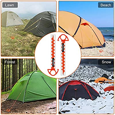 LEISURE TIME Dog Tie Out Stake Heavy Duty Rust Resistant Beach Stake Camping Tent Stakes Peg Ground Ground Stake Spike Anchor