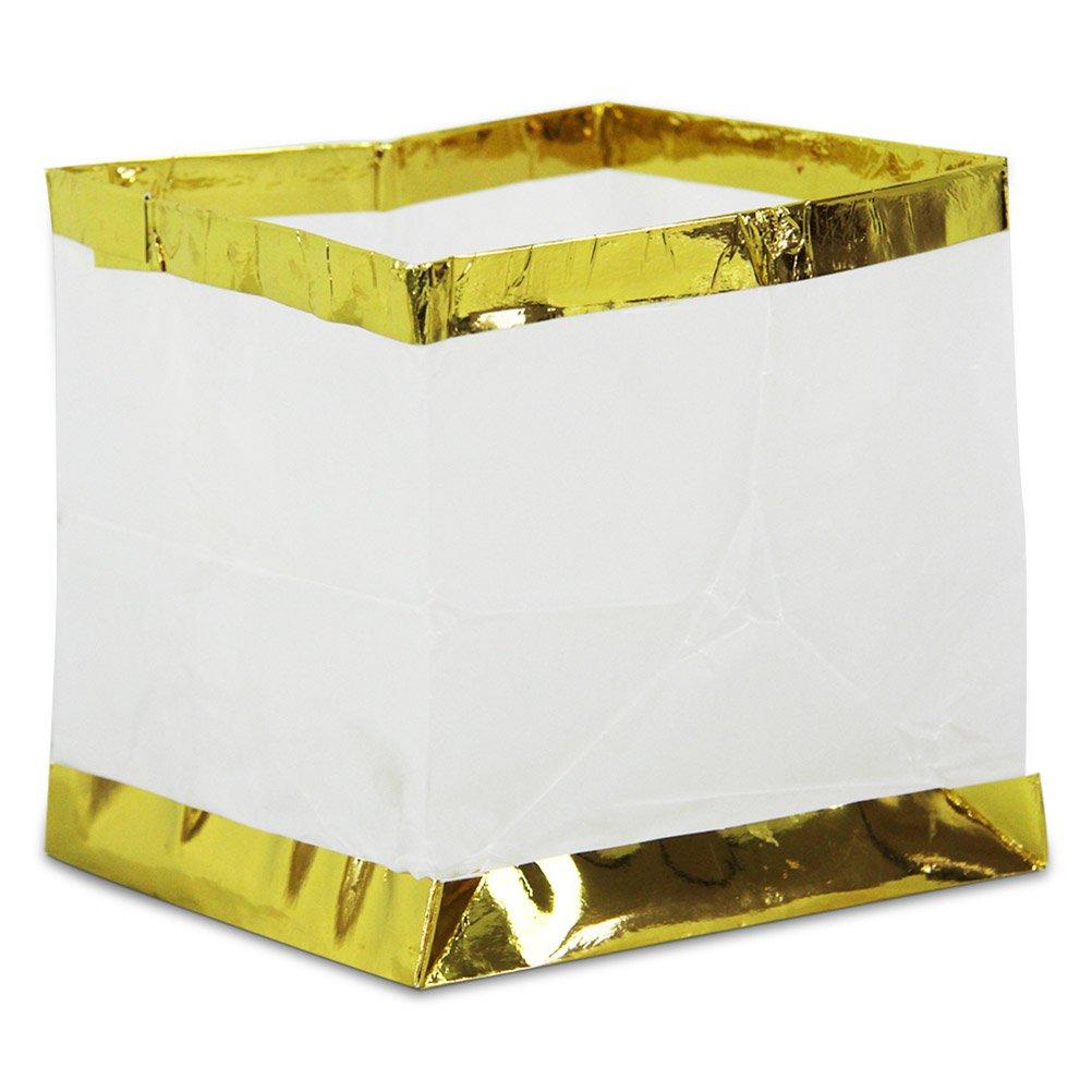 128 x Wasserlaterne Wasserlampion mit Teelicht Papierlaterne 15 cm