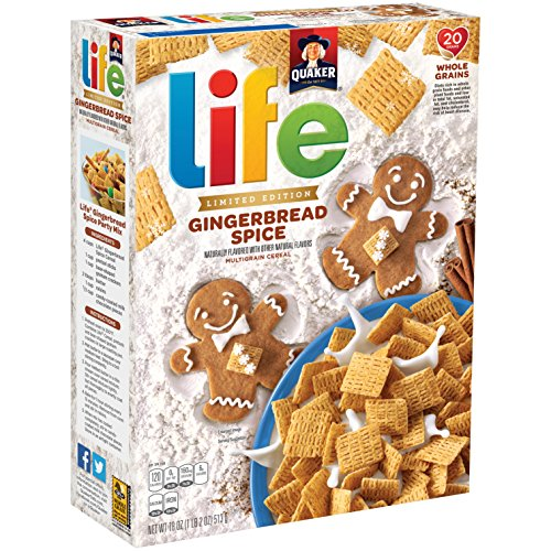 Quaker Life Breakfast Cereal, Limited Edition Gingerbread Spice, 18 Ounce by Life