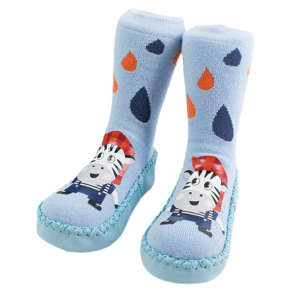 Christmas Newborn Baby Step Socks, Xmas Boys Girls Floor Socks Anti-Slip Indoor Slipper Socks Crib Shoes (6 Months-3 Years)