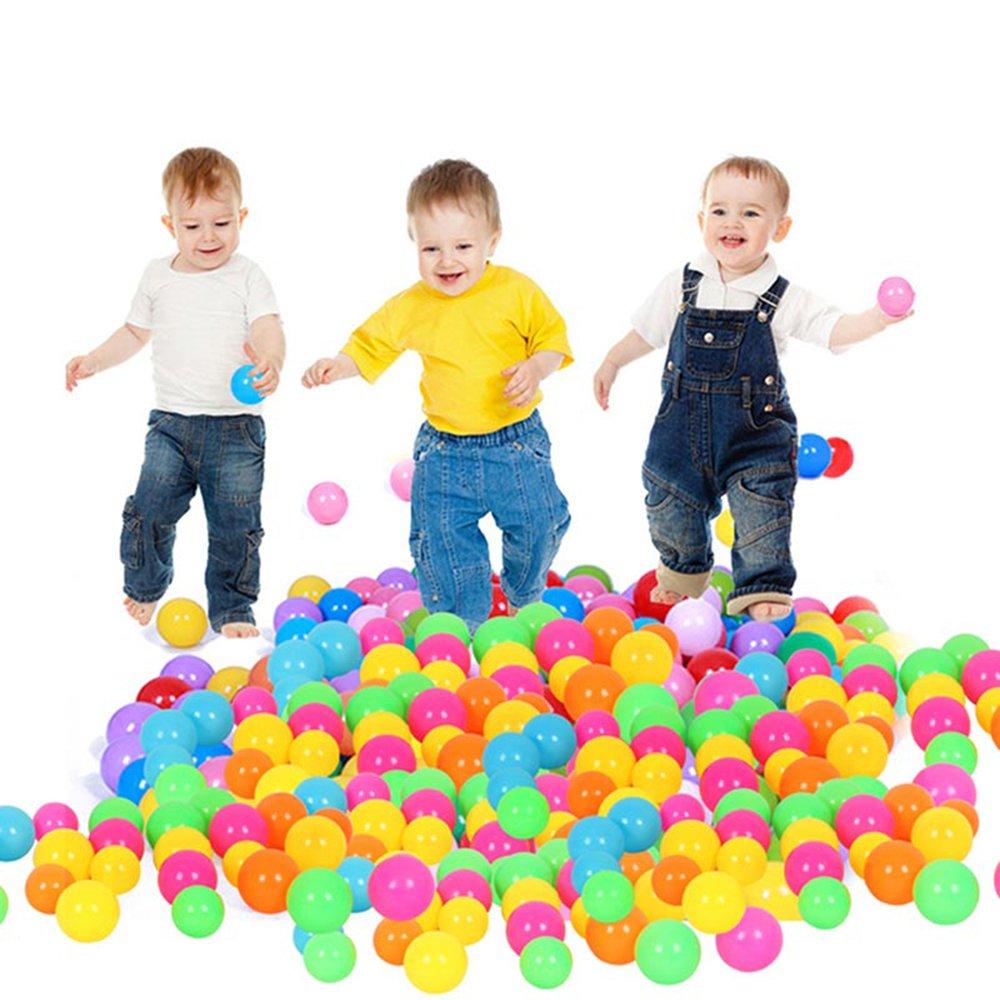 Binglinghua Wholesales 1000PCS Colorful Soft Plastic Pit Ball Seven Colors Balls 5.5cm
