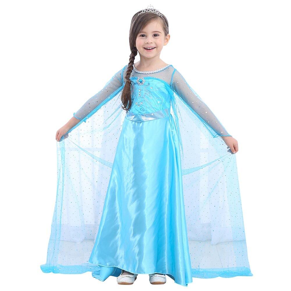 URAQT Disfraz de Princesa Frozen Elsa, Traje del Vestido Traje de Princesa de la Nieve