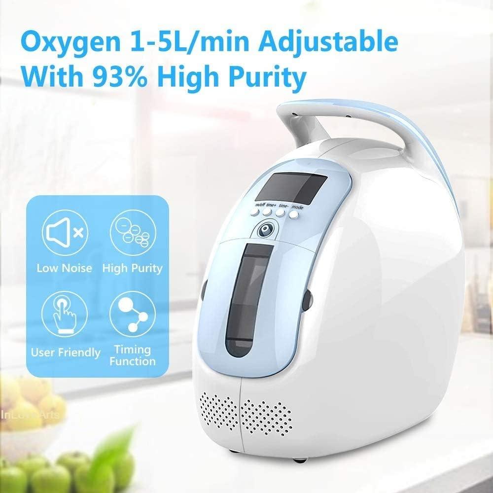 4YANG Máquina de oxígeno Concentrador de oxígeno portátil ...