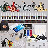 Professional Complete Tattoo Kit 5 Top Machine Gun 54 Color Ink 50 Needles Power Supply
