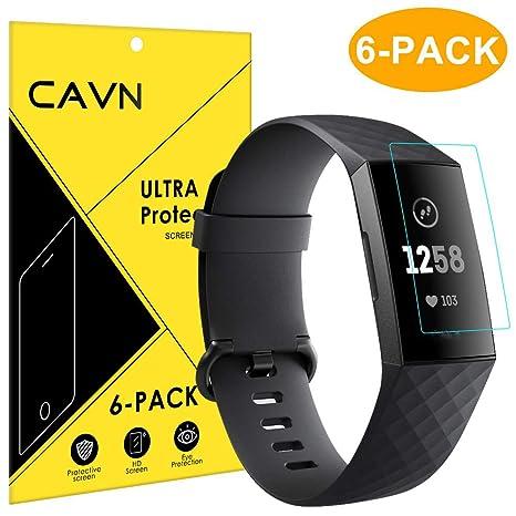 CAVN Compatible Fitbit Charge 3 Protection écran (6 Unités), HD Couverture Complète Flexible Film Protecteurs Protection
