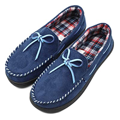 Mwfus Women's Moccasin Slippers with Memory Foam House Shoes Indoor/Outdoor | Slippers