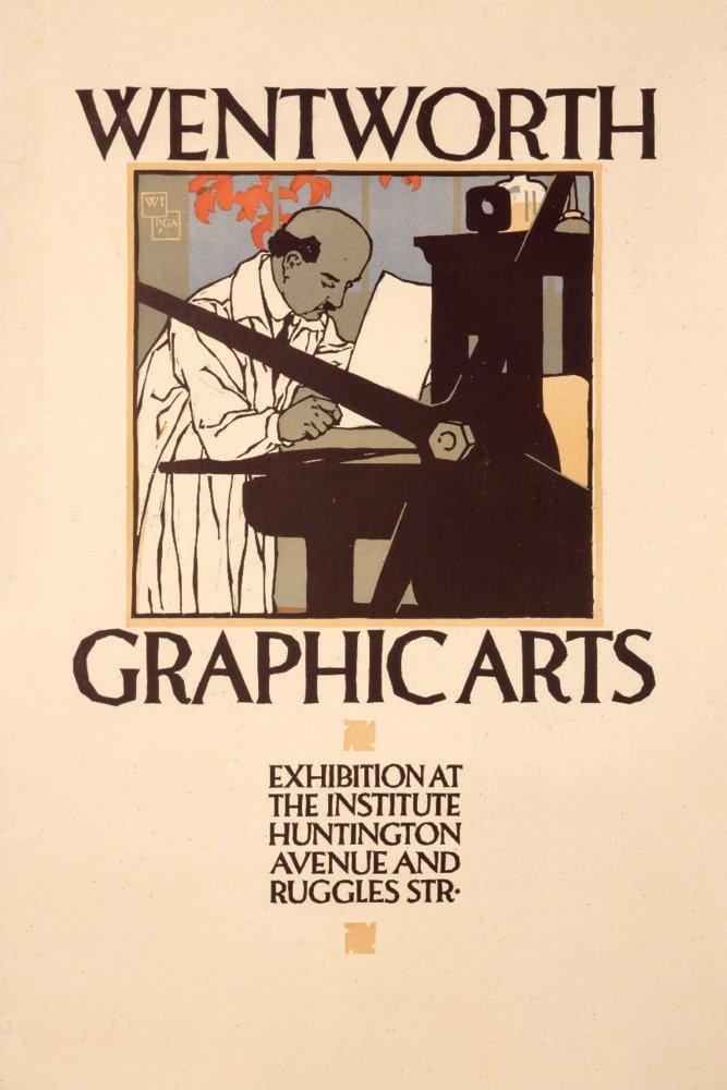 WentworthグラフィックArtsヴィンテージポスター(アーティスト: Preissig ) USA C。1919 16 x 24 Giclee Print LANT-74842-16x24 B01EBQII34  16 x 24 Giclee Print