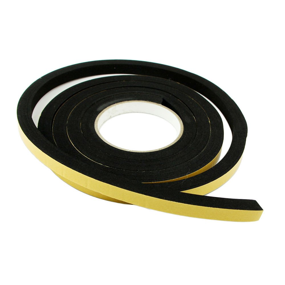 Jumbo Rubber Foam Weatherstrip 3 metre roll Black Extra wide + Extra thick for larger gaps