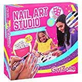 GirlZone: Fun Nail Art Set Kit - Great Christmas Birthday Present Gift Idea For Girls Age 6 7 8 9 10 11 + Years Old.