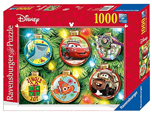 Ravensburger Disney Pixar Christmas 1000 Piece Jigsaw Puzzle for Adults – Every Piece is Unique, Softclick Technology Means Pieces Fit Together Perfectly