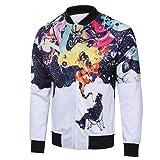 Longra® Mens Autumn Winter Long Sleeve Casual Printed Top Coat