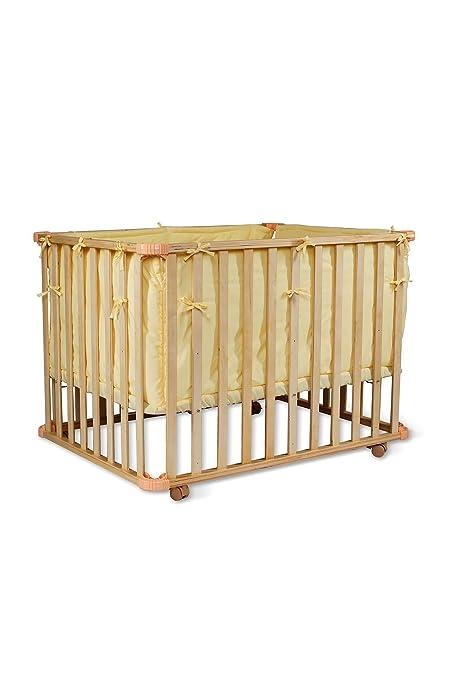 dibea BB00441, Cama de bebé (90x60 cm), Cuna móvil, con barrotes