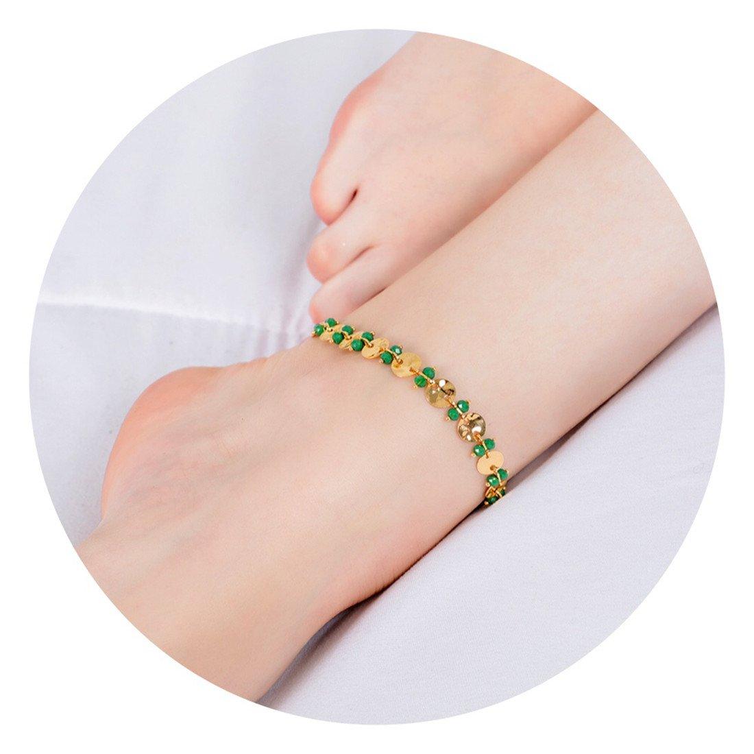 Fettero Anklet Bracelet Handmade Beach Boho Foot Jewelry Gold Heart Enamel Arrow Chevron Fishbone Chain Multicolored Seed Bead AK3-1