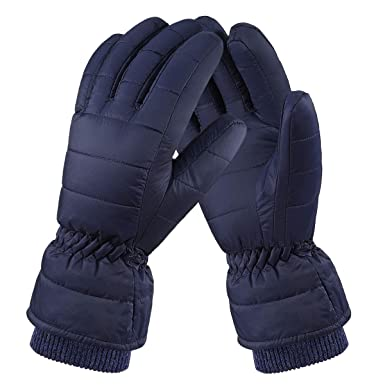 234a2690f05df Fazitrip Winter Ski Gloves for Men, Thermal & Windproof & Anti-wrinkle Warm  Mittens