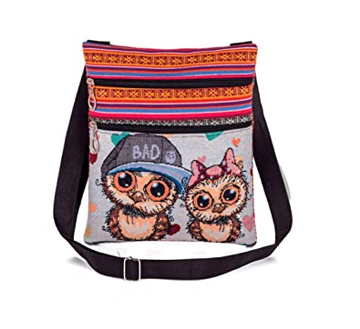 Sac Main Aigus À Zipper Greetuny Hibou Femme Shopping Mode 1lKcFTJ