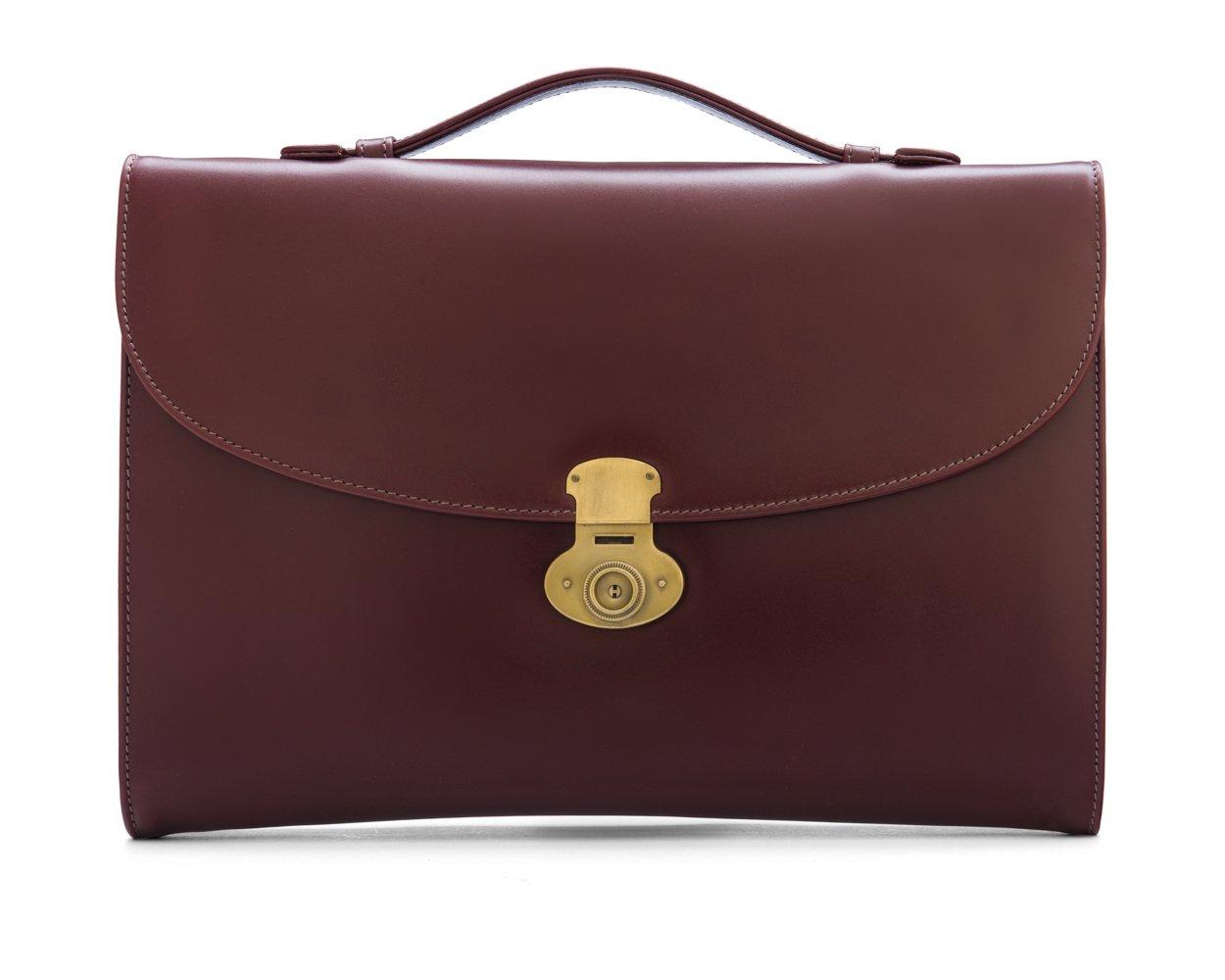 SAGEBROWN Dark Tan Windsor Briefcase
