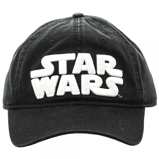 c8b5951664 Image Unavailable. Image not available for. Color  Star Wars Logo Black  Adjustable Cap