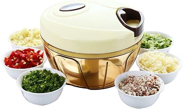 Baoyouni Alimentos Chopper Manual Dicer vegetal, cocina picadora ...