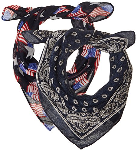 Multi Floral Scarf - Steve Madden Women's Classic and Floral Bandana Set, 2pk, Multi, one size