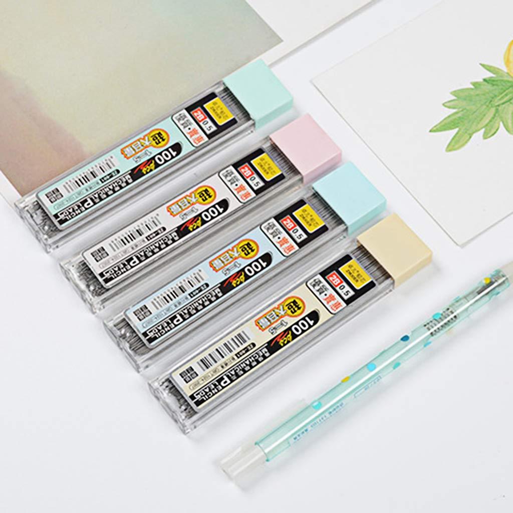 Youliy Box Graphitmine 2B Druckbleistift Nachf/üllmine Kunststoff Automatik Bleistift Minen 100er Set 5