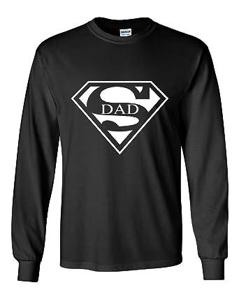 69ddda5d Amazon.com: Super Dad Long Sleeve T-Shirt Funny Superhero Father's ...