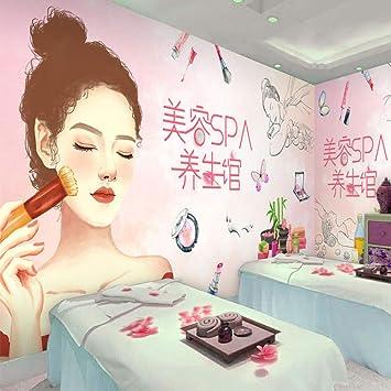 Mural 3d Wallpaper Mural 3d Manicure Tattoo Shop Decoration Wallpaper Pink Beauty Salon Korean Makeup Skin Care Cosmetic Shop Wallpaper 250cmx175cm Amazon Com