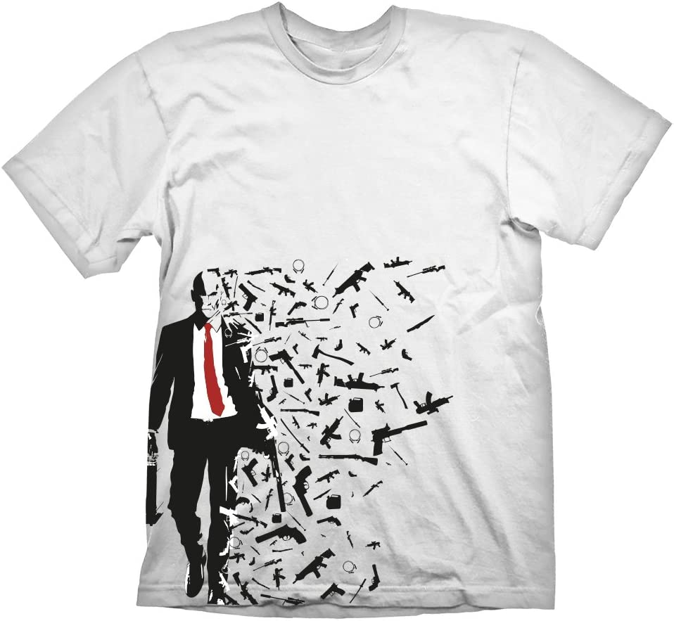 Amazon Com Hitman Adult Male Agent 47 Weapons Barcode T Shirt