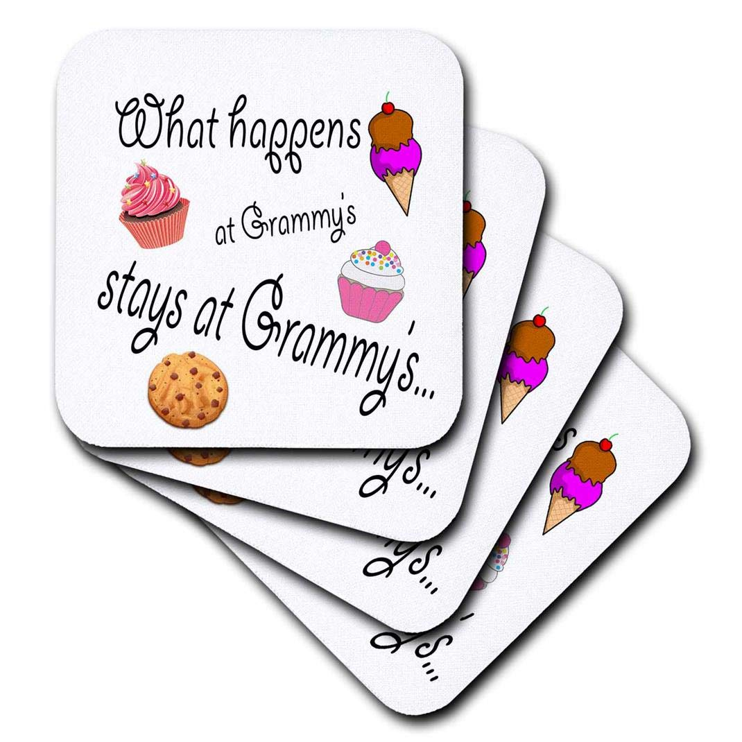 3dRose CST/_113686/_3 What Happens at Grammys Stays at Grammys Ceramic Tile Coasters Set of 4