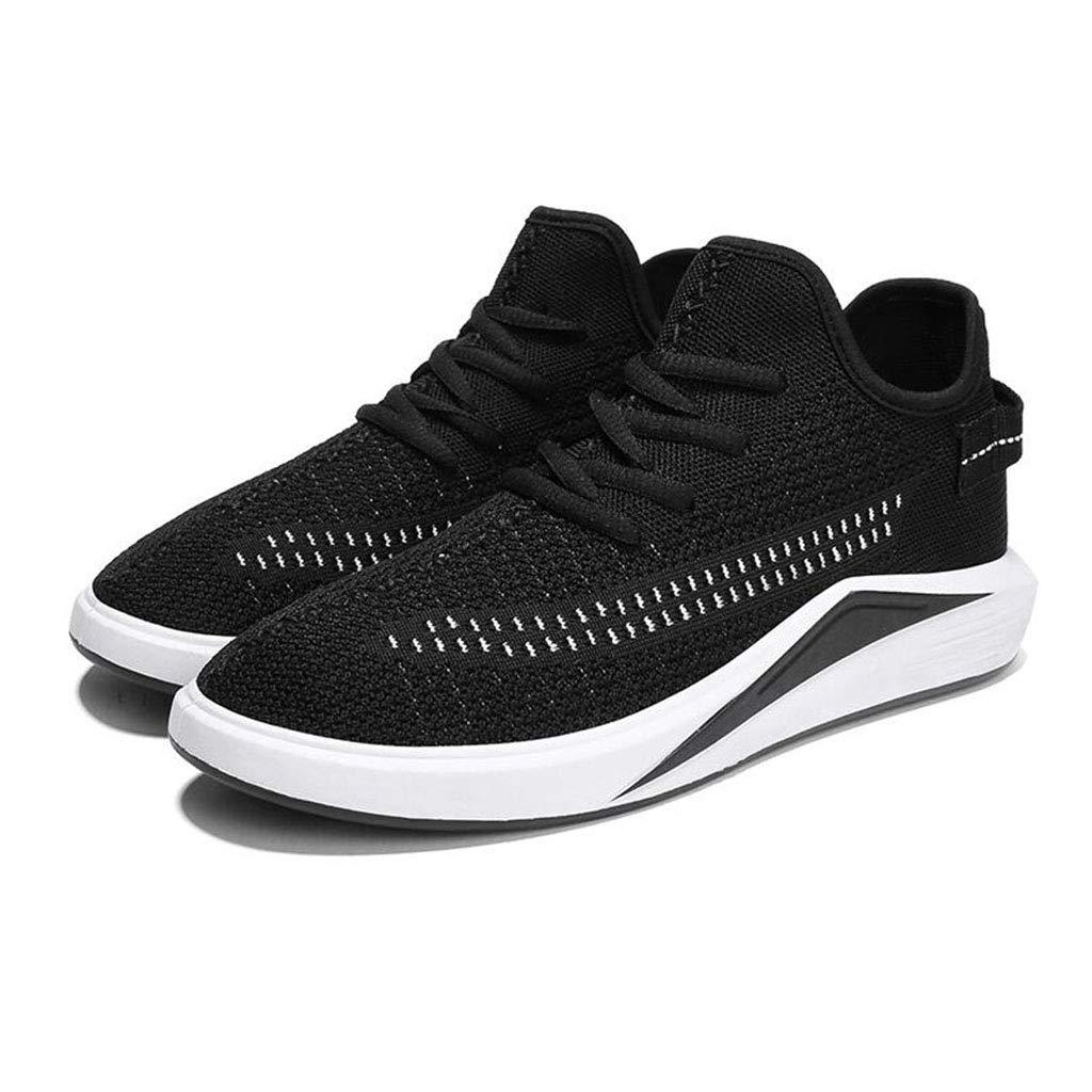 YIWU Sportschuhe Schwarz Herrenschuhe Atmungsaktive Schuhe Casual Herrenschuhe Canvas Schuhe Herren Laufschuhe Turnschuhe (Farbe   Schwarz, Größe   EU41 UK7.5-8 CN42)