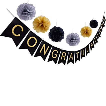 amazon com congratulations banner sign for graduation party