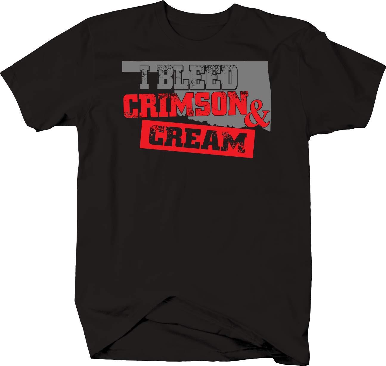 Janix I Bleed Crimson And Cream Oklahoma State Sooners Football Tshirt 2614
