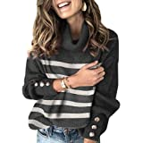 Sovelen Women's Oversized Turtleneck Chunky Pullover Sweaters Cowl Neck Long Sleeve Winter Slouchy Loose Knit Sweaters