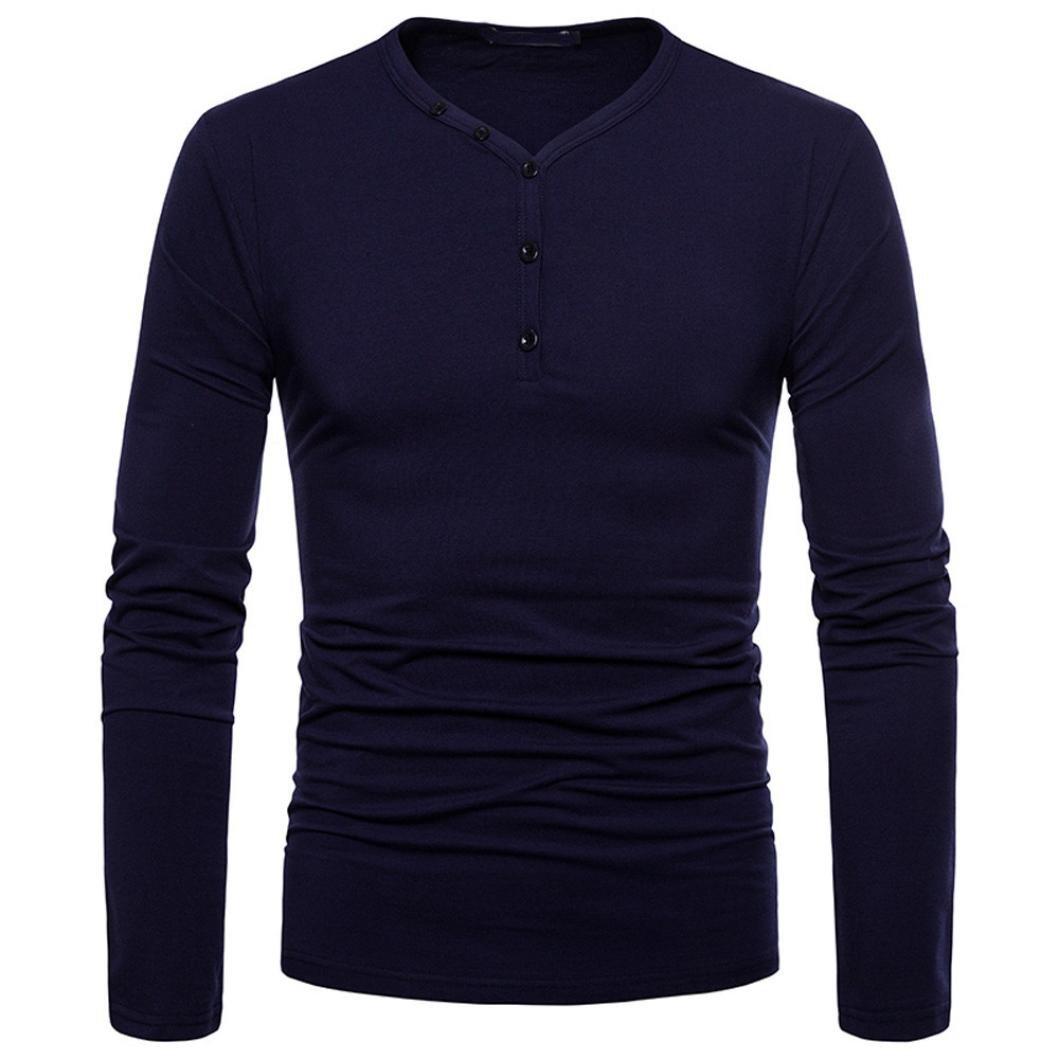 50237d728 Blusa Hombre Yesmile Camiseta Personalidad de los Hombres de Moda Slim Fit  Camisa de Manga Larga