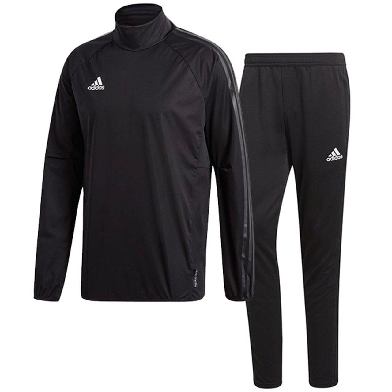 アディダス(adidas) CONDIVO18 レインピステトップ & トレーニングパンツ(ブラック/ブラック) DJV40-CF4354-DJU99-BS0526 B0798D9LBF 日本 J/O-(日本サイズXL相当)|ブラック/ブラック ブラック/ブラック 日本 J/O-(日本サイズXL相当)